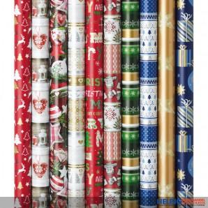 """Geschenkpapier """"Weihnachten/Christmas"""" - sort."""