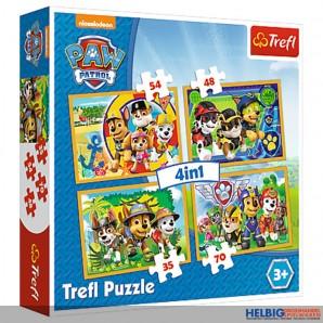 """Kinder-Puzzle 4-in-1 """"Paw Patrol 35 + 48 + 54 + 70 Teile"""""""