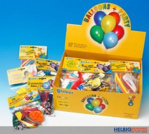 Luftballon-Sortiment - 5-sort. im Display