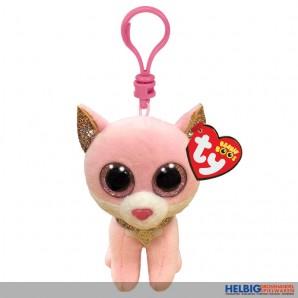"Boo Clip/Anhänger - Katze ""Fiona"" pink - 8,5 cm"