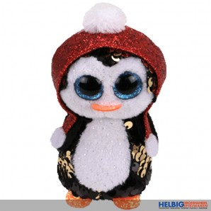 """Ty Flippables - Pinguin """"Gale"""" XMAS - Clip 8,5 cm"""
