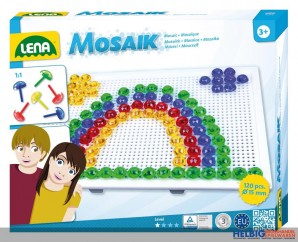 """Mosaik-Set / Steckperlen """"Transparent"""""""
