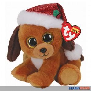 """Beanie Boo - Hund mit Wintermütze """"XMAS 2020"""" - 15 cm"""