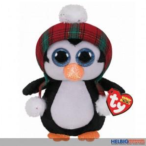 """Beanie Boo - Pinguin mit Wintermütze """"XMAS 2020"""" - 15 cm"""