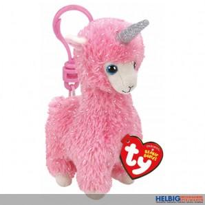 "Boo Clip/Anhänger - Lama pink ""Lana"" mit Horn - 8,5 cm"