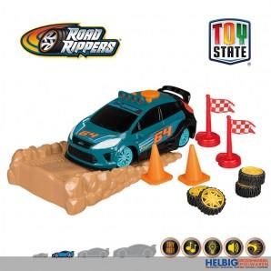 """Road Rippers - Spiel-Set """"Rally Stunt Ford Fiesta"""" m. L&S"""
