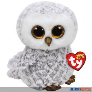 """Glubschi's/Beanie Boo's - Eule """"Owlette"""" weiss-grau - 24 cm"""
