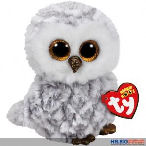"""Glubschi's/Beanie Boo's - Eule """"Owlette"""" weiss-grau - 15 cm"""