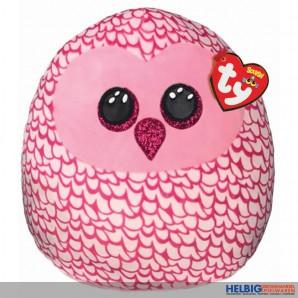 "Squish-a-boos - Plüsch-Kissen ""Eule Pinky"" 35 cm"