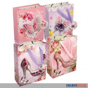 "3-D Geschenktüte ""High Heels & Butterfly"" sort. - medium"