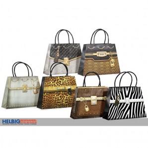 """3D-Geschenktüte """"Handtasche/Handbag"""" - 4-sort."""