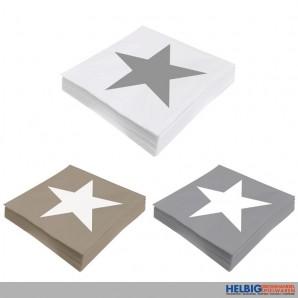 """Servietten """"Stern - Stars"""" 20er Pack - sort."""