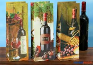 """Flaschentüte """"Wein-Dekor"""" - 3-sort."""
