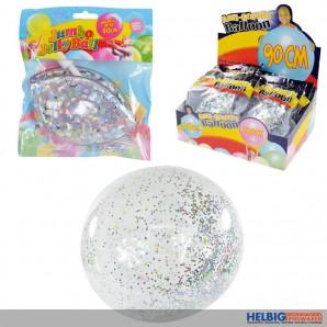 "Aufblasbarer ""Bubble Ball - Glitzer Konfetti"" 90 cm"