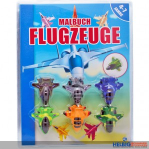 """Malbuch """"Flugzeuge"""" 4-7 Jahre"""