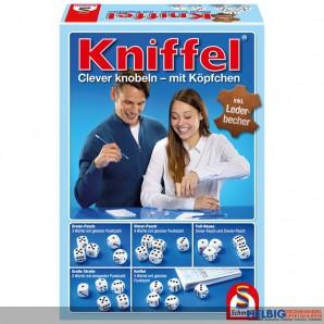 """Würfelspiel """"Kniffel"""" mit Leder-Würfelbecher"""