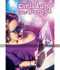 """Geburtstags-Einladungskarten """"Einladung zur Party"""""""