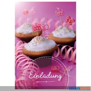 """8er Kartenset Kindergeburtstag Mädchen """"Cupcake"""""""