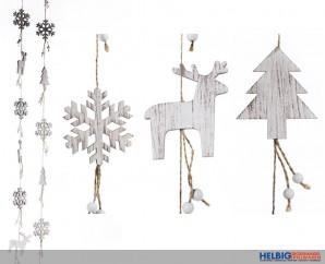 """Holz-Deko-Aufhänger """"X-mas/Weihnachten"""" 2-sort."""