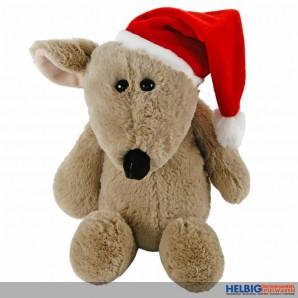 """Plüschtier """"Maus mit Weihnachtsmütze"""" 35 cm"""