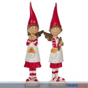 Deko Engelchen mit roter Zipfelmütze gr. - sortiert