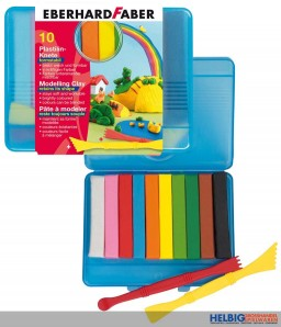 Plastilin-Knete - 10er Kunststoffbox