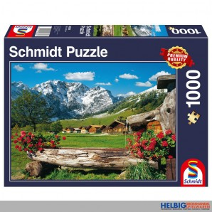 """Puzzle """"Blick ins Bergidyll"""" - 1000 Teile"""