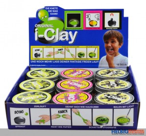 "Intelligente Super-Knete ""i-Clay - Mixed"" - Display"