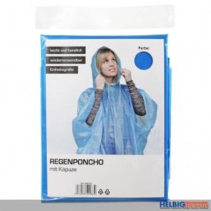 Regen-Poncho mit Kapuze - sort.