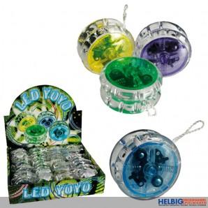 Yo-Yo mit LED-Licht - 4-sort.
