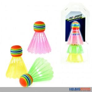 """Federbälle """"Badminton Shuttle"""" farbig - 3er Pack"""