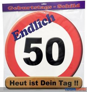 Glückwunsch-Schild - 50 Jahre