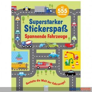 """Kreativbuch """"Superstarker Stickerspaß: Spannende Fahrzeuge"""""""