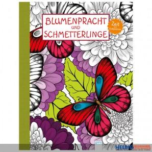 """Malbuch """"Blumenpracht und Schmetterlinge"""""""