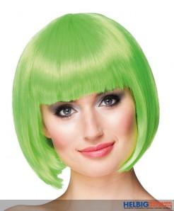 "Perücke ""Cabaret"" - limette grün"