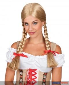 """Perücke """"Heidi"""" - blonde Zöpfe"""