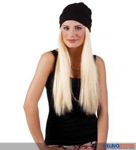 "Langhaar-Perücke ""Britney"" m. Mütze - blond"