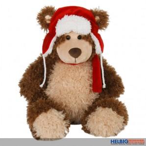 Plüsch Teddybär mit Wintermütze gr.