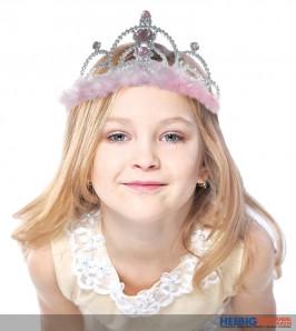 """Krone / Diadem """"Prinzessin"""" mit Federn"""