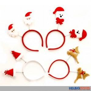 """Party-Haarreif """"Weihnachten/Christmas"""" - sort."""