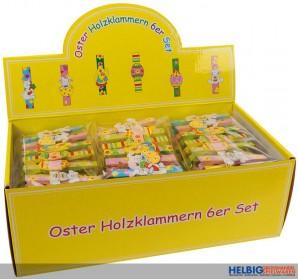 Oster-Holzklammern - 6er Set