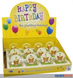 """Mini Geburtstags-Wasserkugel """"Happy Birthday"""""""