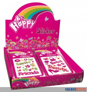 "Glitter-Sticker ""Be Happy"""