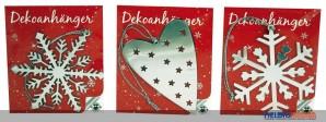 """Dekoanhänger """"Weihnachten"""" - 6-sort."""