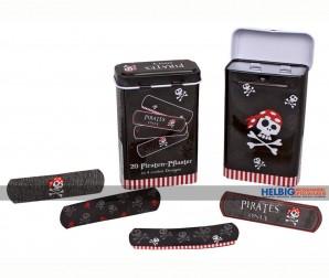 """Piraten-Pflaster in Metallbox """"Pirates Only"""" - 4-sort."""