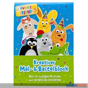 "Kreativer Mal- & Bastelblock ""Funny Friends"""