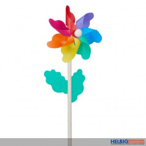 """Windrad/Windmühle """"Flower"""" inkl. Holzstab - 30 cm"""