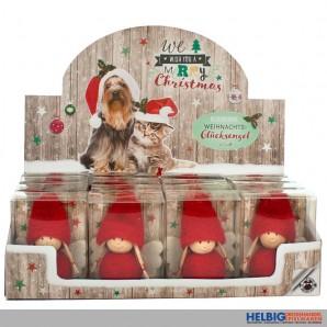 """Deko-Glücksengel """"Weihnachten/Merry Christmas"""""""