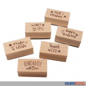 """Holz-Stempel """"Magic Moments - Every Day is Magic"""" 6-sort."""