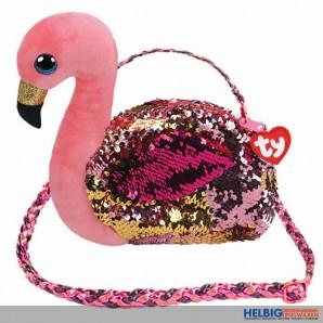 "Ty Fashion - Pailletten-Schultertasche 23 cm Flamingo ""Gilda"